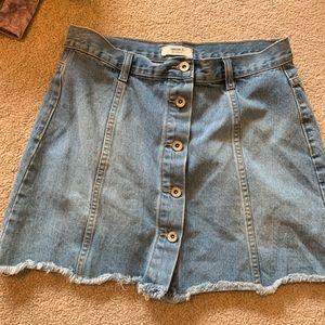 Forever 21 Light Wash Jean Skirt